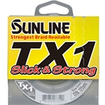Sunline TX1 Slick & Strong Ultra Vis Yellow Braid 125yds