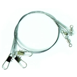 Eagle Claw Clear/Bright Heavy Duty Wire Leader 3pk