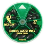 Eagle Claw Bass Casting Sinkers 27pcs